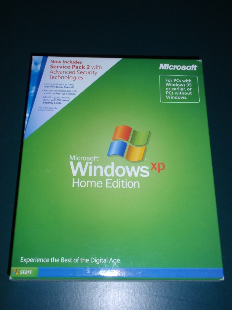 Microsoft windows xp home edition sp3 oem original for Home on windows